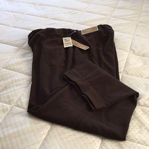 JM Collection Chocolate Magic Pants with Slim Leg